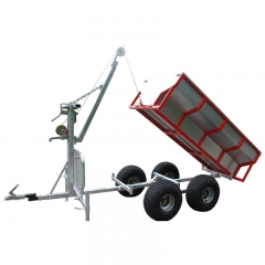 STV Log Trailer With Crane