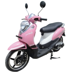 Scooter de color rosa