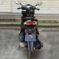 Gas legales calle Scooter ciclomotor 125cc negro